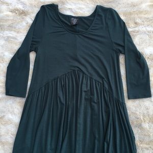 Agnes and Dora Green 3/4 Sleeve Dress